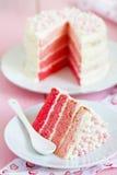 Gâteau rose d'Ombre Images libres de droits