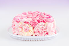 Gâteau rose d'Ombre Photos stock
