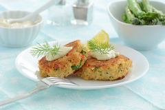 Gâteaux de crabe Photo stock