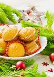 Gâteaux de Noël Photos libres de droits