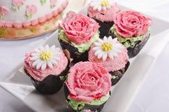Gâteaux de tasse Photos stock