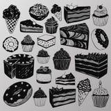 Gâteaux et bonbons Images libres de droits