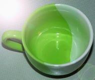 Gteen杯子 免版税库存图片