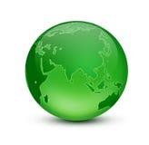 Gteen earth. Shiny blue globe created in Photoshop Royalty Free Stock Image