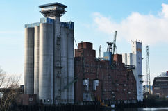 GTH warehouse and silo company in Germany Stock Photo
