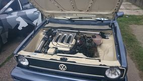Gti dohc2 de VW Golf mk1 0 16v Images stock