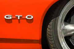 GTO. Generic GTO badge and wheel arch on a classic vehicle Stock Images
