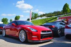 Gtr Nissan royaltyfria bilder