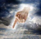 Göttlicher Eingriff Stockfotografie