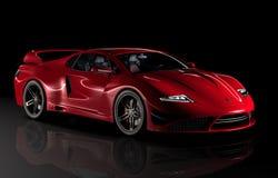 Gtvz röd sportbil Royaltyfri Fotografi