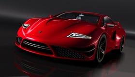 Gtvz röd supercar Arkivbilder