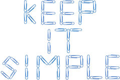 Guárdelo los clips de papel azules simples Foto de archivo libre de regalías
