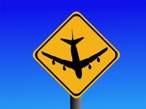 Guárdese de la muestra del aeropuerto Imagenes de archivo