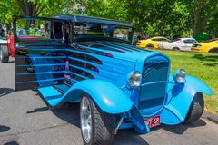 Gué bleu de hot rod photo stock