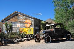 Gué de cru sur Route 66 image stock