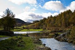 Gué de fleuve dans le cumbria Photos libres de droits