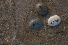 Guérissez les roches 1 de miracle de courage images libres de droits