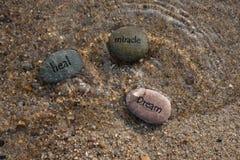 Guérissez les roches rêveuses 2 de miracle photographie stock libre de droits