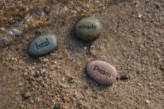 Guérissez les roches rêveuses 3 de miracle photo stock