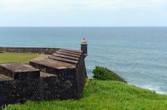Guérite chez Castillo San Felipe del Morro, San Juan Images stock
