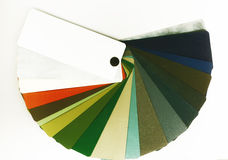 Guía abierta del color para los metales en blanco Fotografía de archivo