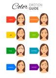 Guía de la emoción del color libre illustration