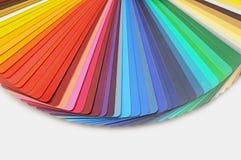 Guía de la gama de colores de color foto de archivo