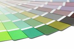 Guía de la paleta de colores imagenes de archivo