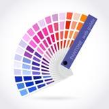 Guía de la paleta de colores Fotografía de archivo
