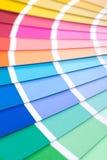 Guía de la paleta de colores Foto de archivo libre de regalías