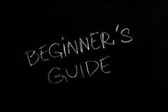Guía de los principiantes fotos de archivo libres de regalías