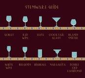 Guía del Stemware Imagen de archivo libre de regalías