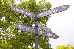Guía Estocolmo Imagen de archivo