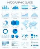 Guía infographic útil Sistema de elementos del diseño gráfico stock de ilustración