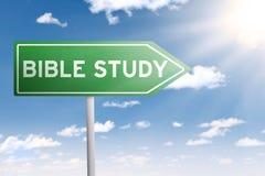 Guías del poste indicador al estudio de la biblia Imagen de archivo