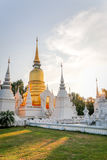 Gu Jao Luang, Chiang Mai, Thailand. Gu Jao Luang with sunset and clear sky Stock Images