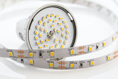 GU10 LED bulb with strips without silicone protection Stock Photography