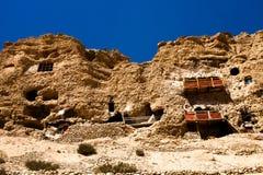 Gu Pu'er Temple in precipice part Stock Photos
