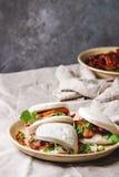 Gua bao babeczki z wieprzowiną obraz stock