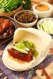Gua Bao (gedämpftes Sandwich) lizenzfreies stockbild
