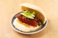 Gua Bao (Gestoomde sandwich) royalty-vrije stock afbeeldingen