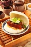 Gua Bao (Gestoomde sandwich) royalty-vrije stock fotografie