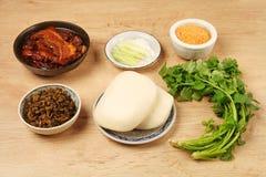 Gua Bao (Gestoomde sandwich) royalty-vrije stock foto's