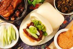 Gua Bao (sanduíche cozinhado) Fotografia de Stock Royalty Free