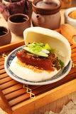 Gua Bao (Steamed sandwich ) Royalty Free Stock Photography