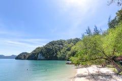 Gua Cherita island, Langkawi, Malaysia. The island of Gua Cherita, Langkawi, Malaysia Stock Photos