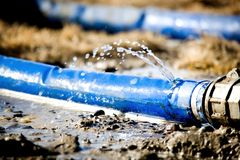 Água de desperdício Fotografia de Stock Royalty Free