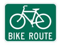 Guía de la ruta de la bicicleta Imágenes de archivo libres de regalías