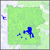 A ?gua de Yellowstone caracteriza o mapa Fotografia de Stock