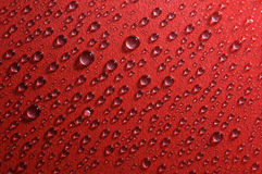 A água deixa cair a textura vermelha Fotografia de Stock